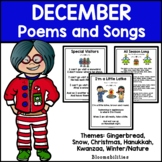 December Poems and Songs for Poetry Unit (Printable)