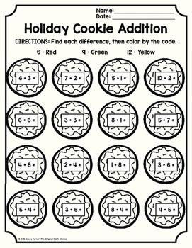 December Holiday Math Printables - 2nd Grade