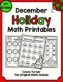 December Holiday Math Printables - 2nd Grade