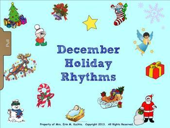 December Holiday Rhythm Fun - Exploring Duration of Sound