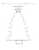 December Holiday Tree. Fun Christmas Activity. Design & Decorate!