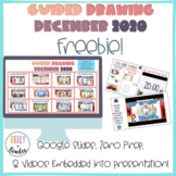 December Holiday/Winter Guided Drawing Freebie!