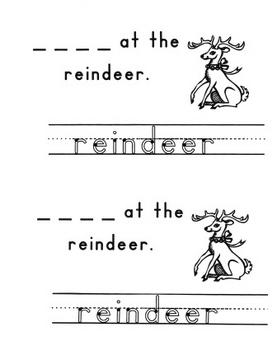 December Holiday Words Emergent Reader