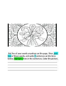 December Holiday Words Their Way Packet