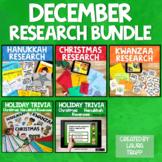 December Holiday Research BUNDLE:  Hanukkah and Kwanzaa