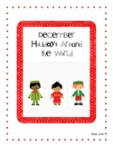 December Holidays Around the World Differentiated Activities