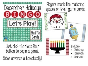 December Holidays Powerpoint Bingo Game CHRISTMAS CHANUKAH KWANZAA