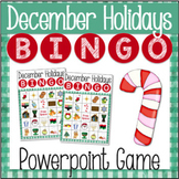 December Holidays Bingo Game for Powerpoint CHRISTMAS CHANUKAH KWANZAA
