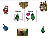 December Holidays Book- Hanukkah, Christmas, and Kwanzaa
