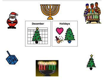 December Holidays Book- Hanukkah, Christmas, and Kwanzaa