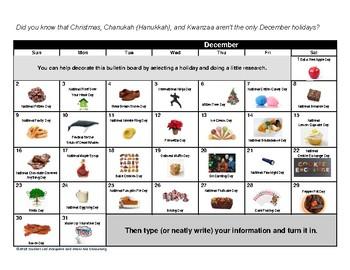 December Holidays Bulletin Board