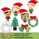 December Holidays Clip Art (Hanukkah, Kwanzaa, Christmas clipart) Bundle
