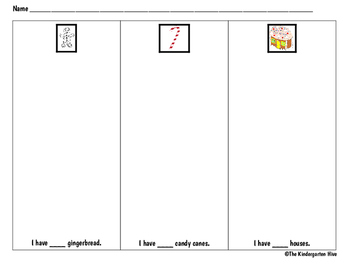 December Holidays Count & Classify Worksheet (gingerbread,