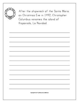 December Holidays, Events, & Season Copywork Print/Cursive Handwriting 129 Pages