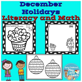 December Holidays Literacy and Math Pair Pack