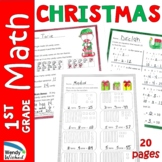 Christmas Math Worksheets for First Grade