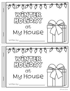 Winter Holiday at My House Writing Activity
