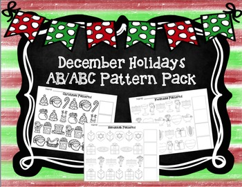 December Holidays Pattern Bundle