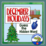 December Holidays PowerPoint - Guess the Word