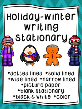 Holidays--Winter--December Writing Paper--Writing Stationa