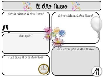 December Holidays in Spanish | Reporting Sheets