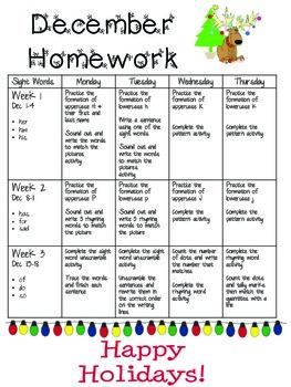 December Homework 2014