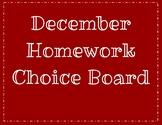 December Homework Choice Board: Color & BW