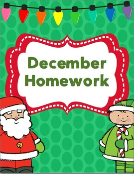 December Homework Pack