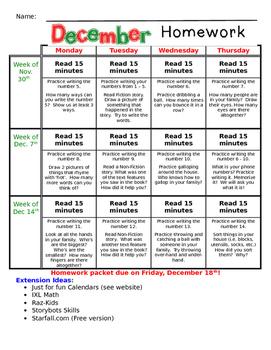 December Homework Packet