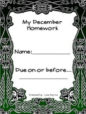 December Homework Packet for Kindergarten