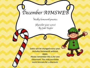 December Homework Practice for AIMSWEB or DIBELS