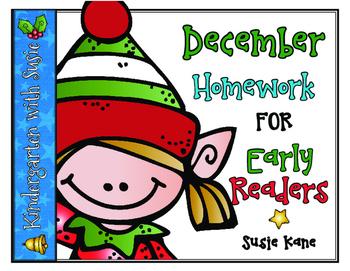 December Homework for Emergent Readers