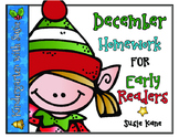 December Homework for Emergent Readers