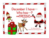 December I Have...Who Has...? FREEBIE!!