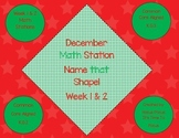 I Know My Shapes! Board Games Math Station Week 1 & 2 CC Aligned