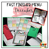 No prep Fast Finishers Menu December