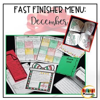 No prep Fast Finishers Menu December