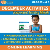 Holiday Chromebook Activities - December Independent Learning Module (ILM)