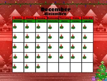 December Interactive Calendar