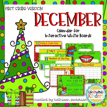December Interactive Calendar Flipchart for 1st Grade
