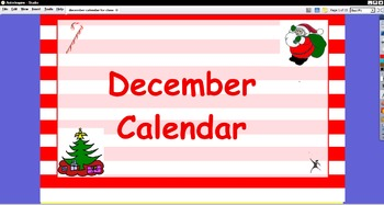 December Interactive Calendar for ActivBoard