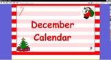 December Interactive Calendar for ActivBoard