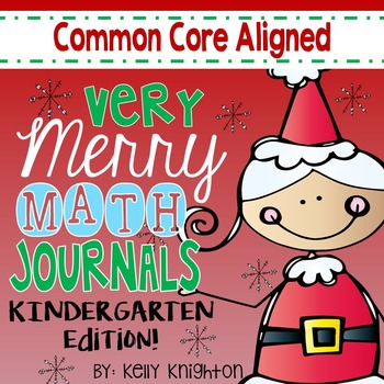 December Interactive Math Journal Kindergarten