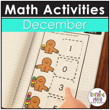 December Interactive Math Notebook Kindergarten