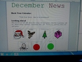 December Interactive Newsletter with Boardmaker Symbols an