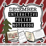 December Interactive Poetry Notebook K-2 {With Original Poems!}