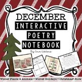 December Interactive Poetry Notebook K-2 {With Original Poems!}