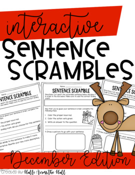 December Interactive Sentence Scrambles