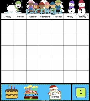 4 December Interactive SmartBoard Calendars