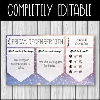 December Introduction Slideshow - Editable Google Slideshow - Free Resource